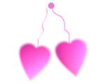 fluffy pink hearts poster