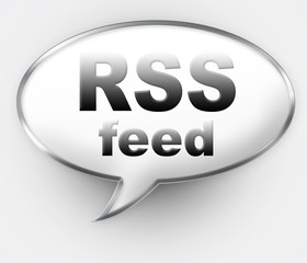 RSS Talk Bubble icon with clipping path for easy extraction