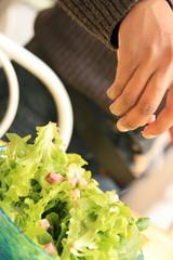 préparons la salade
