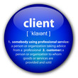 """Client"" definition button"