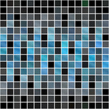 A blue tiles or pixels texture that tiles seamlessly. poster