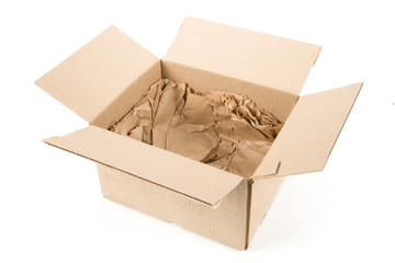 open box with white background