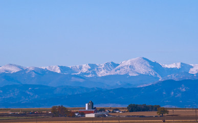 A peaceful farm, located just east of the Rocky Mountains.