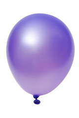 Violet big balloon  isolated  (with clipping path)