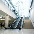 Empty escalator in office centre