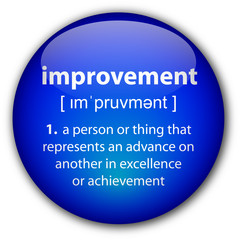 """improvement"" button with definition"