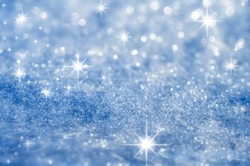 blue star and glitter sparkles  background
