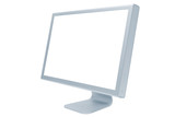 The modern and thin monitor on a white background poster