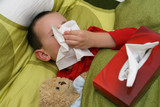 Ill child with catarrh poster