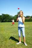 Girls juggling poster