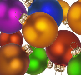 Christmas colorful balls