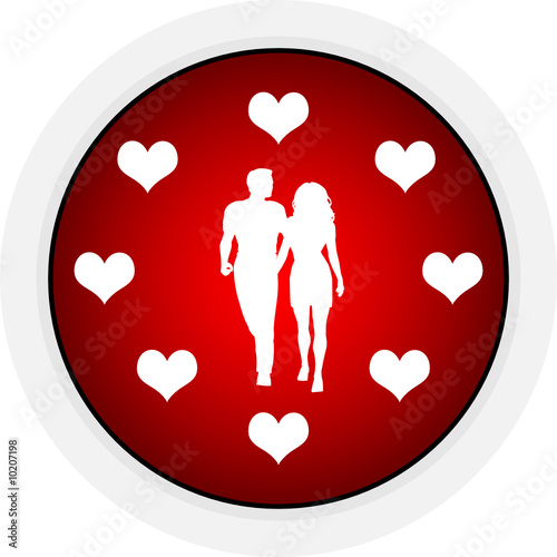 button with lovers