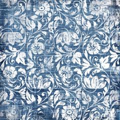 decorative blue-white patterns in retro style
