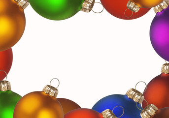Christmas colorful balls frame