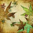 roleta: vintage leafy background