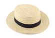 Sombrero de paja canotier
