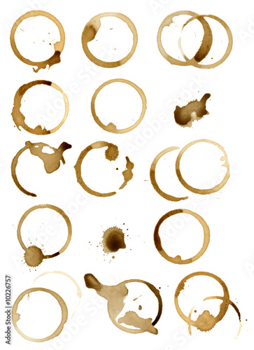 isolated different coffee stains