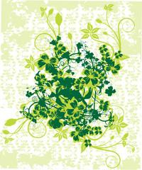 grunge verte et pensee