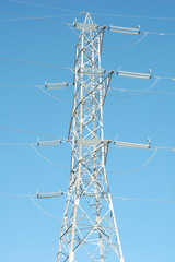 Electric powerlines - high voltage transmission tower