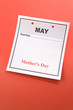 Mother's Day, calendar date in May for background