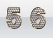 ラインストーンの数字 5 6