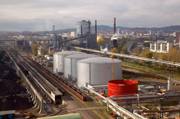 Schwerindustrie Stahlwerk