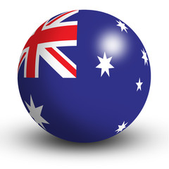 Australia Flag orb Button Icon
