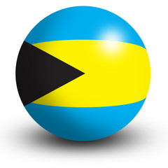 Bahamas Flag orb Button Icon
