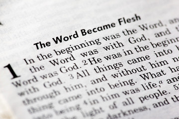 John 1:1 - The word became flesh. Popular New Testament passage