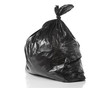 garbage bag isolated on a white background with  reflection