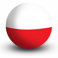 Poland flag orb Button Icon