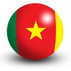 Cameroon flag orb Button Icon