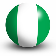 Nigeria flag orb Button Icon