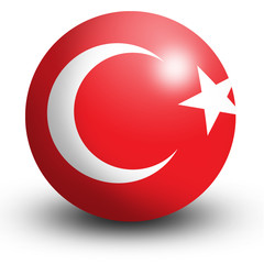 Turkey flag orb Button Icon