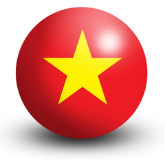 Vietnam flag orb Button Icon