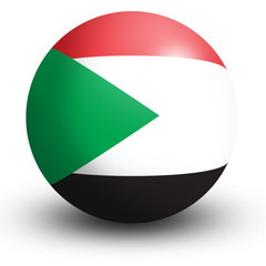 Sudan flag orb Button Icon