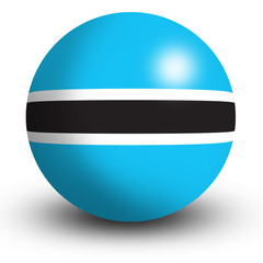 Botswana flag orb Button Icon