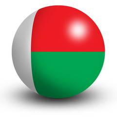Madagaskar flag orb Button Icon