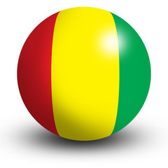 Guinea flag orb Button Icon