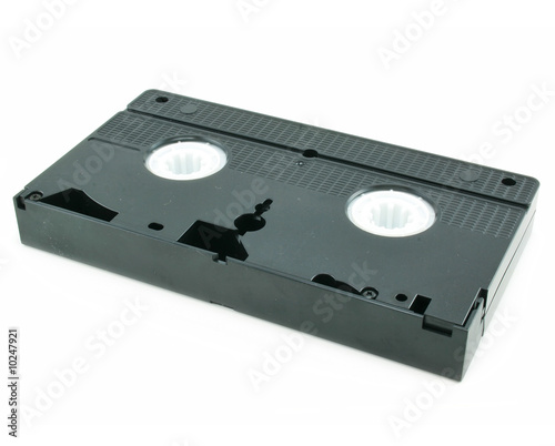 Old video cassette isolated on a white background