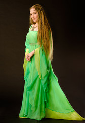 Fairy Lady in green dress