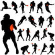 american football vector set