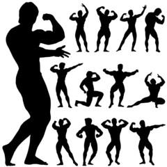 body building vector
