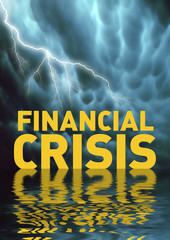 Conceptual illustration: Financial crisis (recession)
