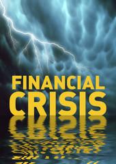 Conceptual illustration: Financial crisis (recession)