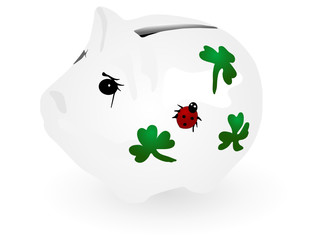 Vector illustration of piggy bank