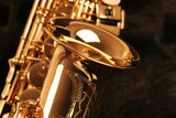 Fototapety picture of a beautiful golden saxophone