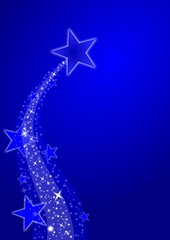 blue merry christmas background, stars