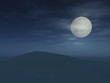 Full Moon Over Hill