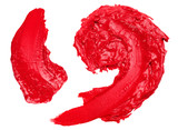 Cosmetic red stick stroke paint abstract detail poster